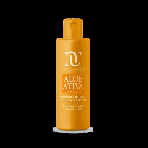 Aloe Shampoo e Balsamo VOLUME STREPITOSO  250 ml
