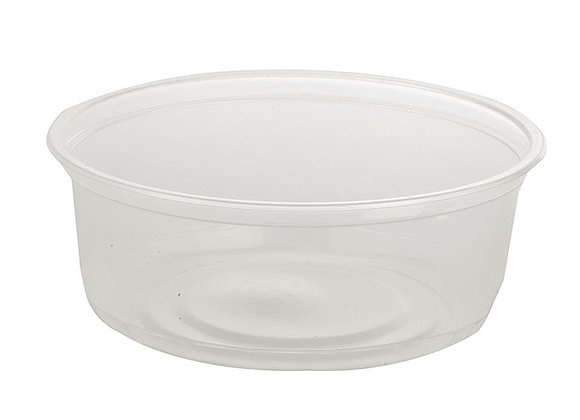 8 floz Clear PP Deli Container Case of 500