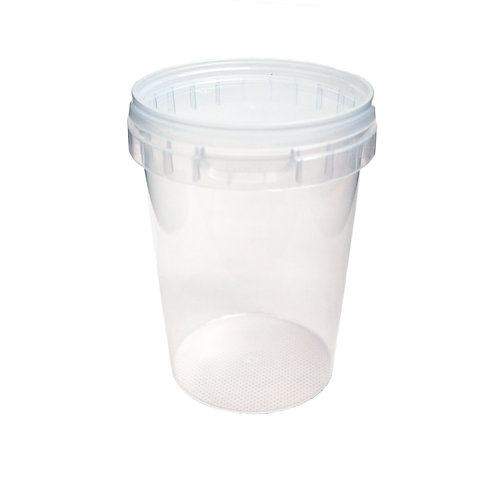 Round 550ml Plastic Tamper Evident Deli Food Container and Lid