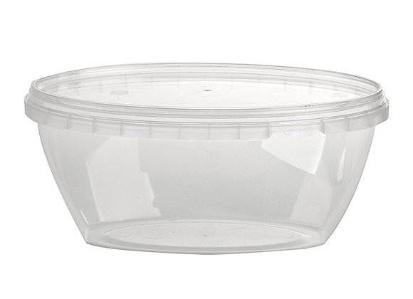 400ml Oval Container and Lid Case of 320