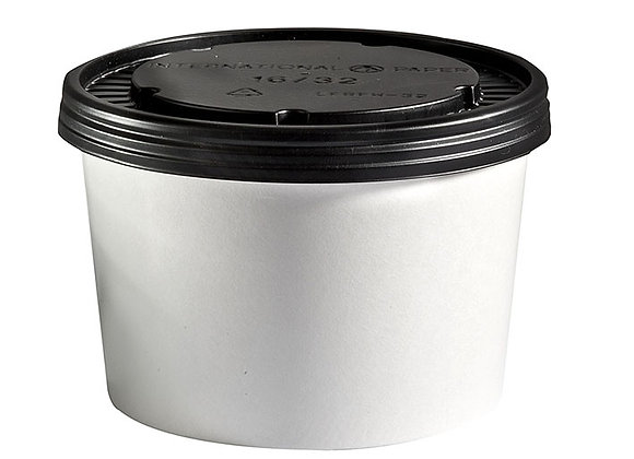 16oz White Board Food Container & Lid Case of 250