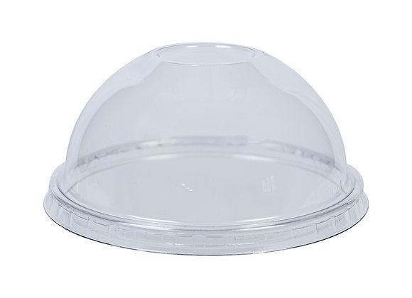 PET Dome Lid without hole to fit 5oz/8oz Sundae Dishes Case of 900