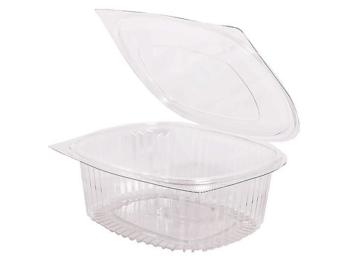 RPET Hinged Salad Container 2000ml Case of 300