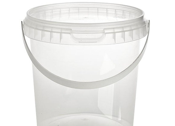 1180ml Round Container and Lid and Handle Case of 170