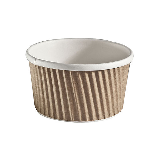 Brown 8oz Ripple Soup Container Case of 500