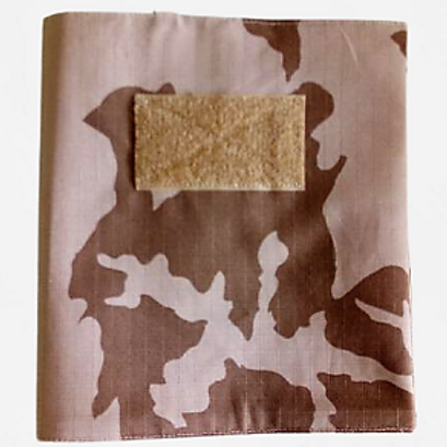 Látkový obal na knihu maskáčový s velcro panelem