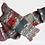 Thumbnail: Pletené ponožky s vlčím mákem - zelený maskáč