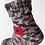 Thumbnail: Pletené ponožky s vlčím mákem - hnědý melír