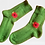 Thumbnail: Pletené ponožky s vlčím mákem - zelené