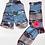 Thumbnail: Pletené ponožky s vlčím mákem - modrý maskáč
