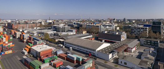 Panoramaaufnahme Baugrundstück Hanauer Landstrasse