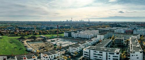 Panoramaaufnahme Baugrundstück Frankfurt Riedberg