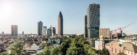 Panoramaaufnahme ONE FORTY WEST Frankfurt