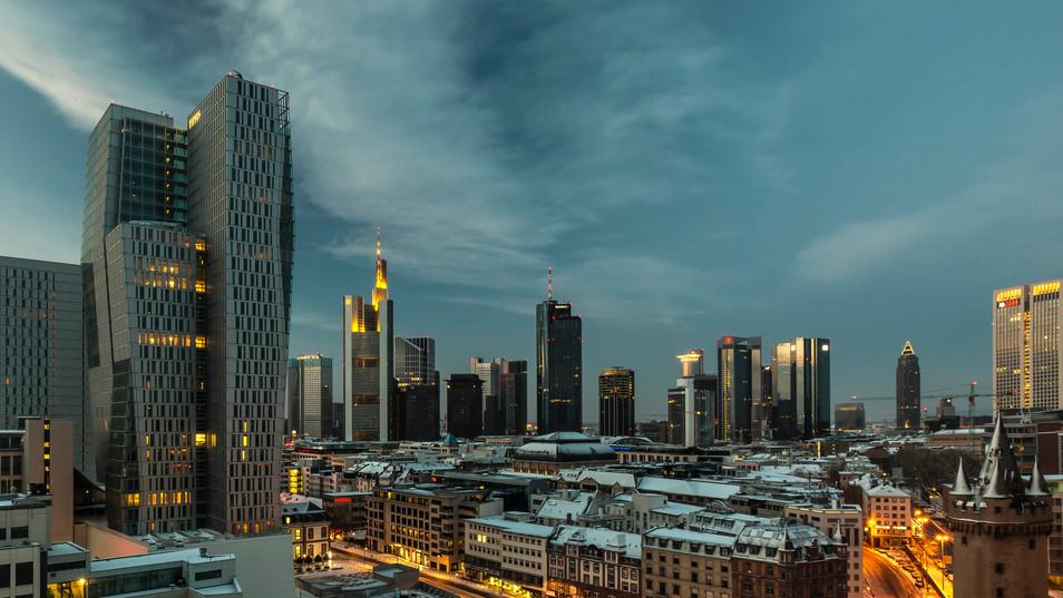 Frankfurt aus der Luft