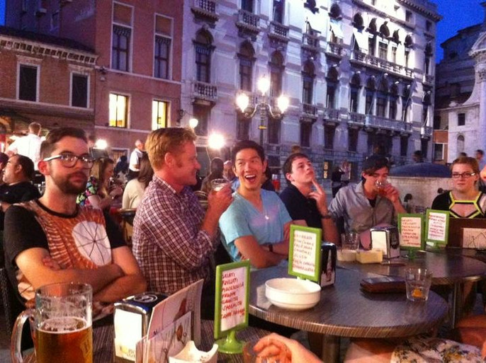 Few drinks in Venice with a group of Architect from Australia