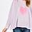 Thumbnail: Lavender Heart Long Sleeve Tee