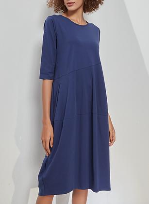 Royal Blue Macedon Dress