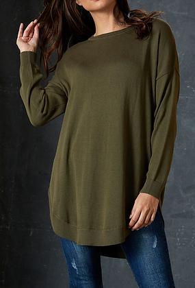 Olive Green Longline Knit