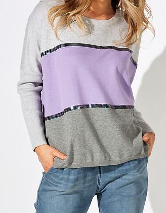 Lavender Tri-Colour Knit