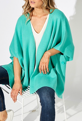 Teal Structured Cape