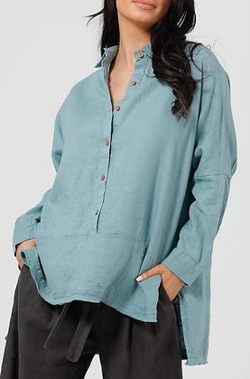 Arctic Blue Sorrento Linen Shirt