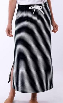 Elm Navy/White Stripe Midi Skirt