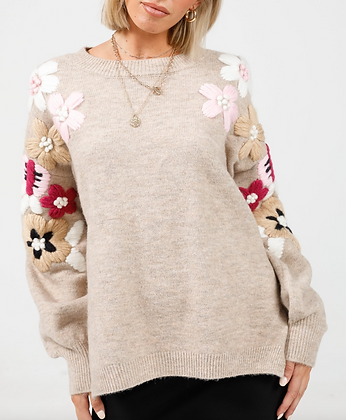 Blossom Embroidered Knit