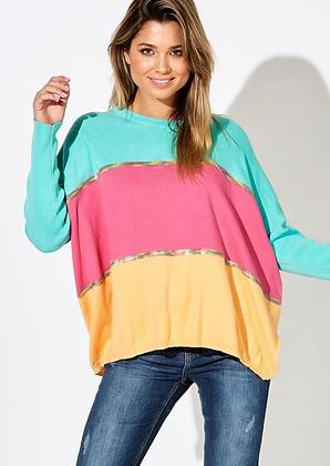 Rainbow Tri-Colour Knit