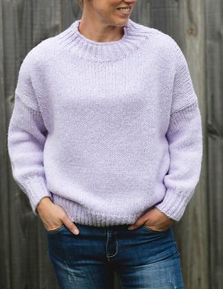 Lilac Wool Blend Knit