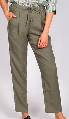Khaki Linen Pant
