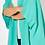 Thumbnail: Teal Structured Cape