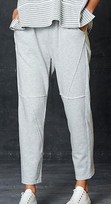 Grey Marle Detailed Jogger Pant