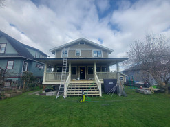 All Exterior Trim, Deck & Stairs: Before