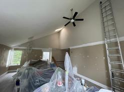 Living room walls, doors & trim: Before