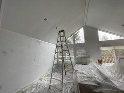 Kitchen ceilings, walls & trim: Before