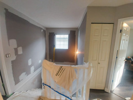 Walls & Baseboards, Railings & Fireplaces: Before