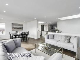Living Room & Kitchen Walls: After