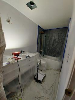 Bathroom Ceiling & Walls: Before