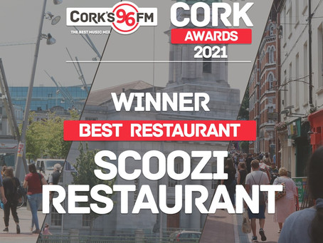 Scoozi wins Best Restaurant at Best of Cork Awards 2021