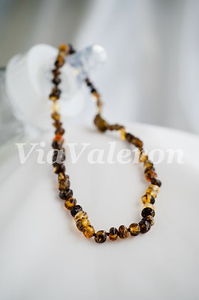 Green Baroque Amber Teething Necklace