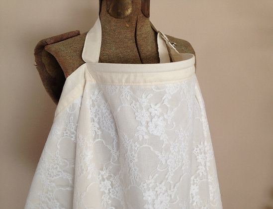 White Lace Nursing Cover