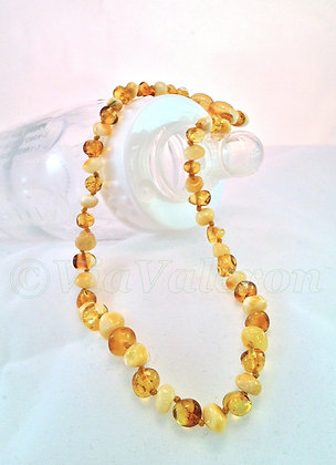Honey Butter Baroque Amber Teething Necklace