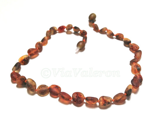 Raw Green Bean Amber Teething Necklace