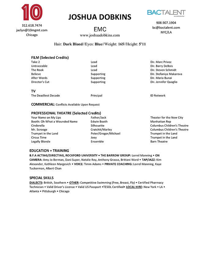 Joshua Dobkins Resume
