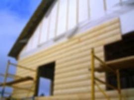 Обшивка блок-хаусом/обшивка дома