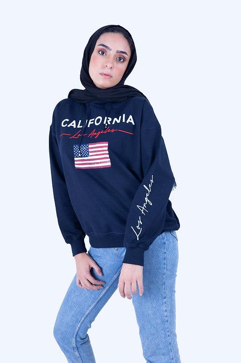 Navy blue California Hoodie
