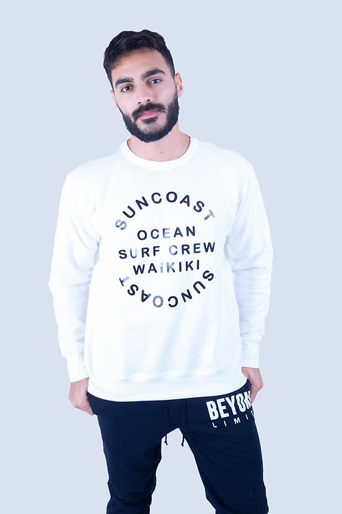 Suncoast White Regular  Sweatshirt