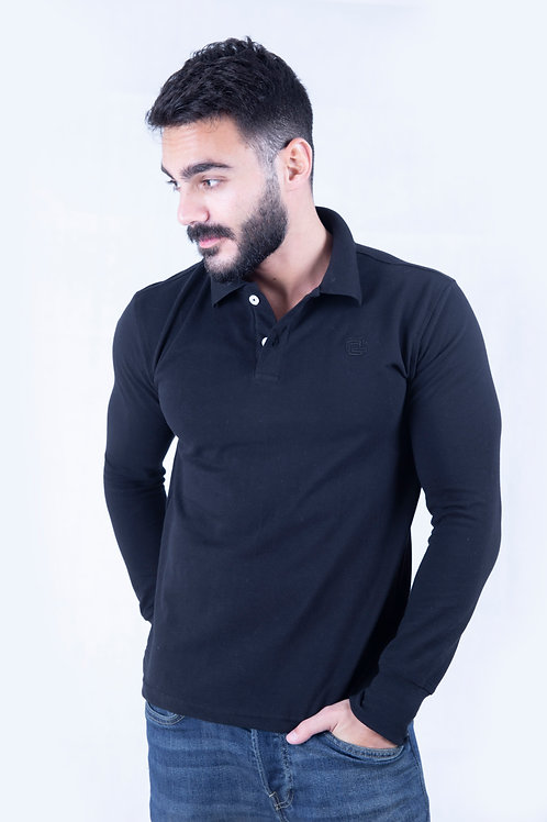 Polo full sleeve Black