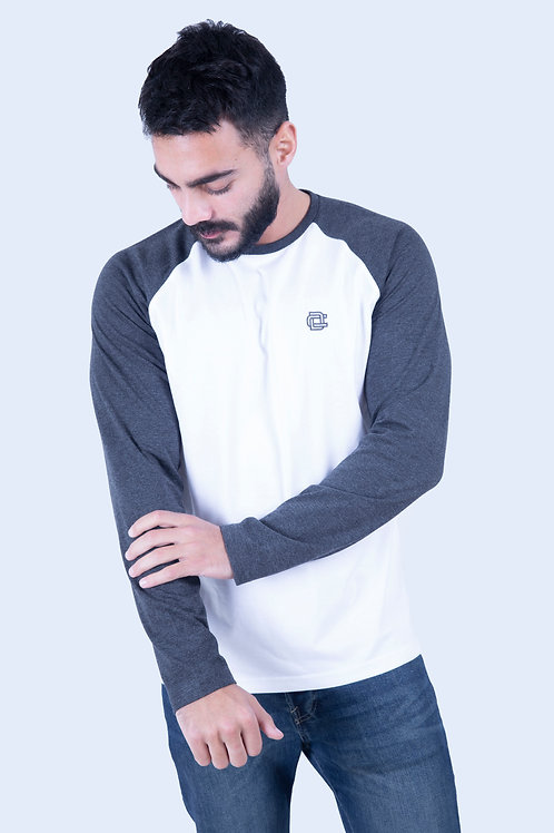 Raglan full sleeve white