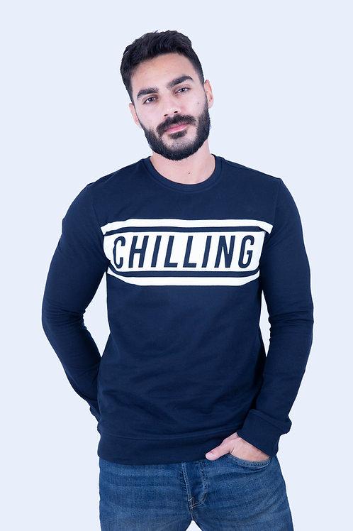 Chilling Navy blue Sweatshirt